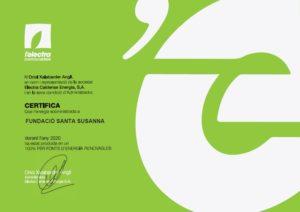 Certificat Energia Verda